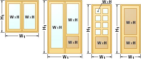 Calcolo trasmittanza termica infissi for Costo infissi legno alluminio